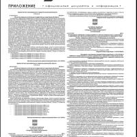 Приложение №2 от 21 января 2016 года