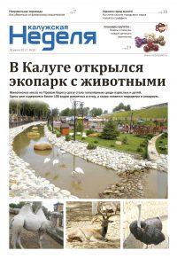 Газета «Калужская неделя», №28 от 20 июля 2017 года